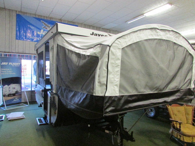 Original The Jay Series Sport 10SD Folding Popup Camper By Jayco Offers A Rear Full Tent Bed And A Front Queen Tent Bed As You Enter The Camper, To The Left There Is A Large Storage Cabinet To The Right Of The Entrance You Will Find A Second Storage