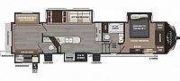 2017 Keystone Montana 358BH High Country 5th fifth wheel trailer