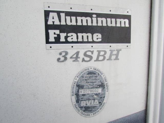 2007 KEYSTONE 34SBH CHALLENGER FIFTH WHEEL