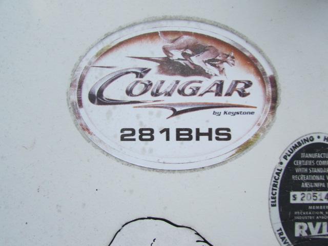 2007 Keystone Cougar 281BHS 5th wheel trailer