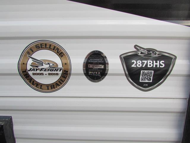 2018 JAYCO 287BHS JAY FLIGHT SLX 8 TRAVEL TRAILER
