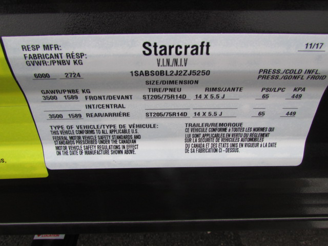 2018 STARCRAFT 21FB AR-ONE MAXX TRAVEL TRAILER