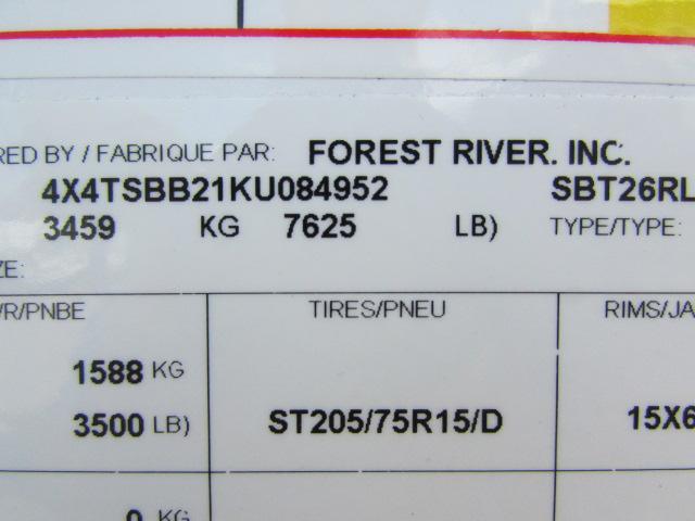 2019 FOREST RIVER SALEM 26RLHL HEMISPHERE HYPER LITE TRAVEL TRAILER