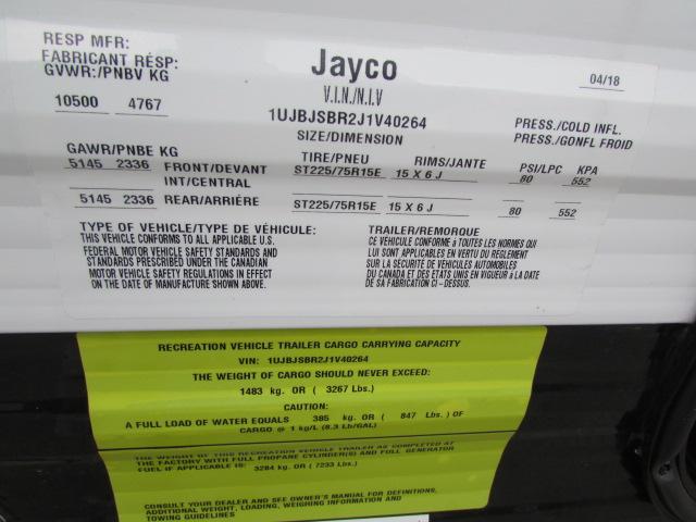 2019 JAYCO 272 OCTANE SUPER LITE TOY HAULER TRAVEL TRAILER