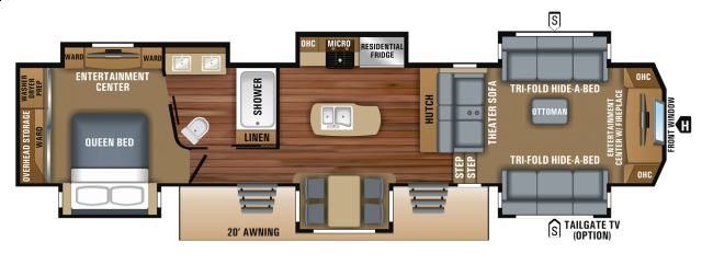 Front Living Fifth Wheel Floor Plans: 2019 JAYCO 381FLWS NORTH POINT FIFTH WHEEL