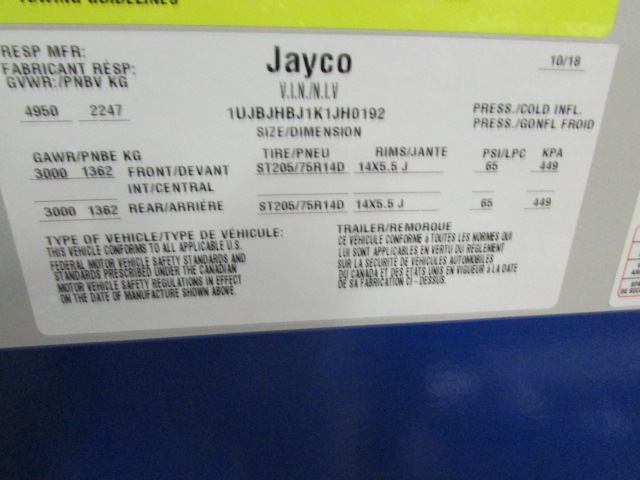 2019 Jayco Jay Feather X19H Travel Trailer