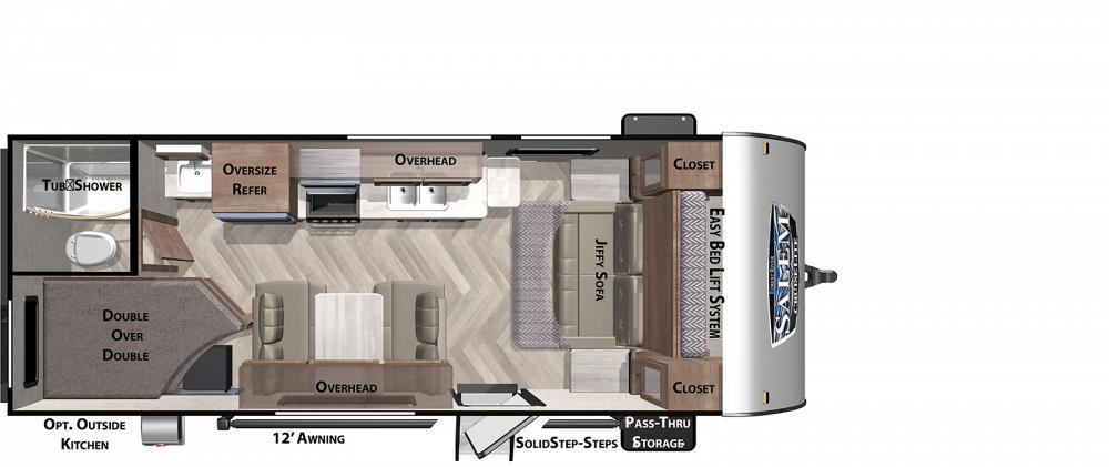 2022 Forest River Salem Cruise Lite 19DBXL travel trailer ON ORDER